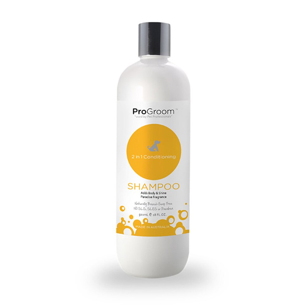 ProGroom 2in1 Conditioning Shampoo 500ml - Oasis Pet Styling Dog Grooming Cat Pet Groomers Singleton Hunter Valley