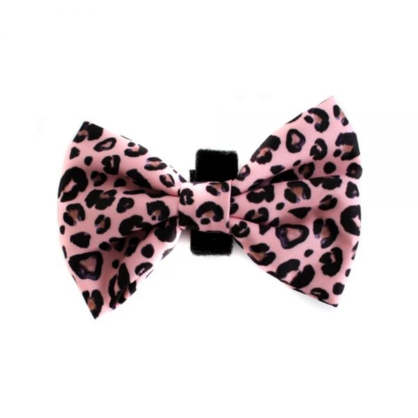 PINK LEOPARD BOW TIE Pablo and Co - Oasis Pet Styling Dog Grooming Cat Pet Groomers Singleton Hunter Valley